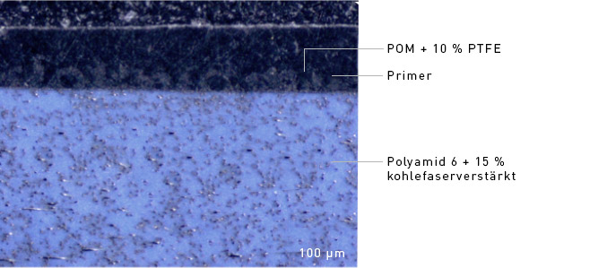 Mikroskopaufnahme Bauteilquerschnitt