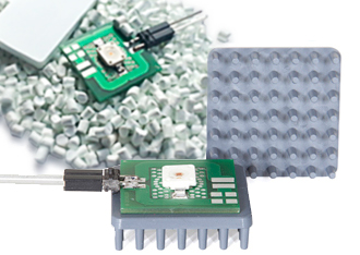 Heat dissipation in electronics application, here in an LED, using thermally conductive LUVOCOM® compounds